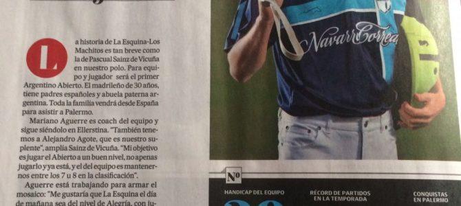 Pascual Sainz de Vicuña primer español en jugar el Abierto Argentino